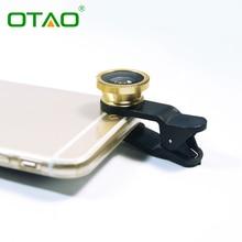 Оригинал 3-в-1 0.67x Широкоугольный Макро Объектив Рыбий Глаз Комплект с Зажимом мобильный Телефон Рыбий Глаз Линзы для iPhone Для Samsung Все Телефоны