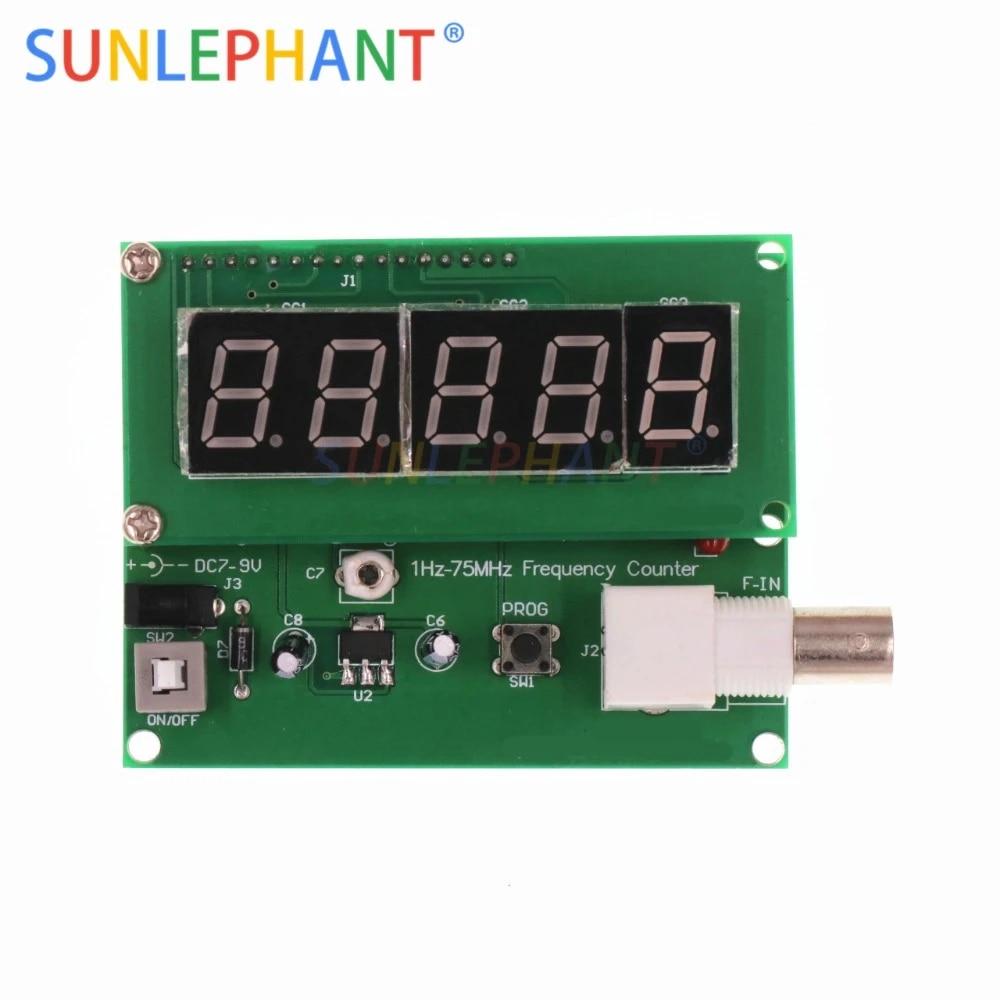 1Hz-50MHz Digital LED Frequency Meter Counter Tester Measurement 7V-9V 50mA