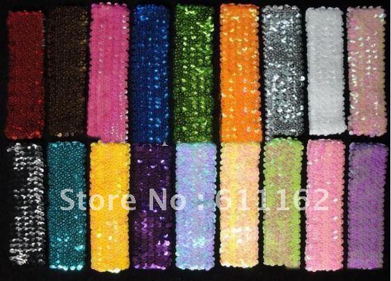 500 шт. 1 ''блесток повязки на голову детские повязки для девочек стрейч 1 дюймов блесток повязки на голову