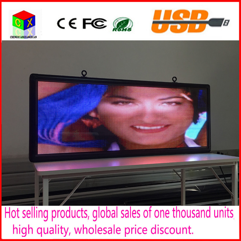Outdoor full color P5 LED display size 15 x 40 inches advertising video screen image signs