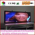 Ao ar livre full-color display LED P5 tamanho 15x40 polegadas de tela de vídeo de publicidade/imagem/sinais de mensagem placa