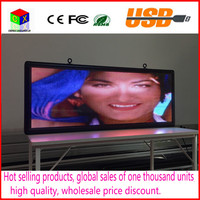 Outdoor full color P5 LED display size 15 x 40 inches advertising video screen / image signs / message board
