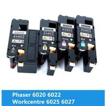 цена на RU SA Toner Cartridges For Fuji Xerox Phaser 6020 6022 Workcentre 6025 6027 printer Compatible Xerox 106R02763 2760 /2761 /2762