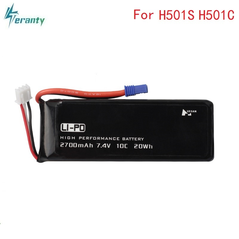 Original for Hubson H501W H501S H501C 7.4V 2700mAh lipo battery 10C 20WH For RC Qaudcopter Drone Parts 2s 7.4 v 2700 mah Battery 7 4v 2700mah 10c battery ec2 plug durable for hubsan h501s quadcopter rc drone an88