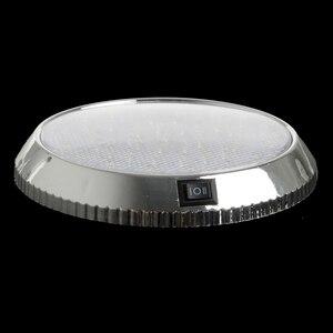 Image 4 - 37led 라운드 독서 램프 자동차 인테리어 돔 라이트 화이트 천장 조명 12 v 캐러밴 밴 택시 모터 홈 액세서리