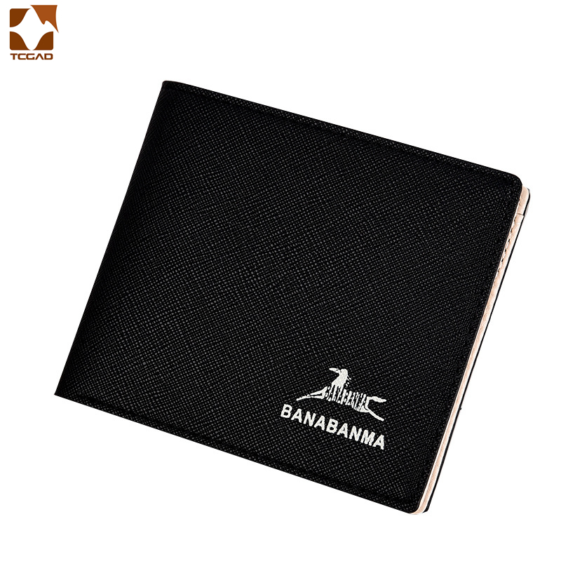 Men's Wallet Leather Genuine Male Portmane Short Purse Luxury 2019 Billeteras Para Hombre Thin Carpeta Brand Money Clip Wallets