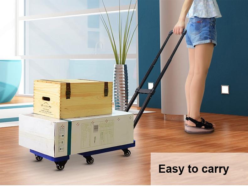 Chariots télescopiques se pliants de voiture lourde de bagage de 200 KG pliant le chariot portatif de supermarché de remorque de bagage de chariot à main