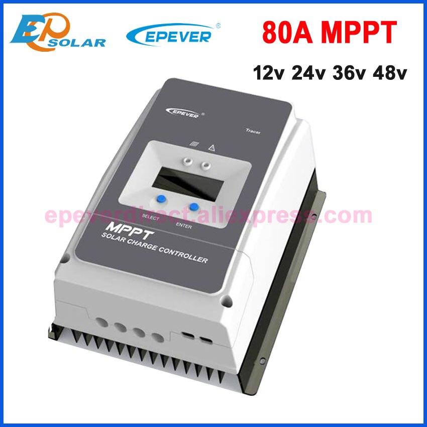 EPEVER MPPT 80A Контроллер заряда 12 В 24 В 36 В 48 В Regulador солнечной 80A для Max 200 В Вход Tracer8415AN Tracer8420AN EPsolar