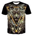 Лето 3d футболка животных графических футболка тигр леопард буквы/ужасный змея/ожесточенные собака/красочный гриб тройники для женщин/мужчин
