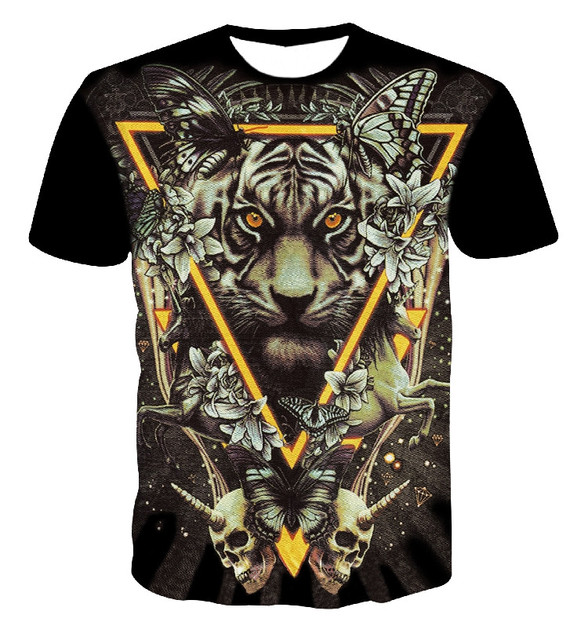 501414084e Summer 3d t shirt animal graphic tee shirt tiger leopard letters/horrible  snake/fierce dog/colorful mushroom tees for women/men-in T-Shirts from ...