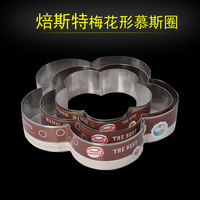 3D DIY 6 8 10 Inches Plum Flowr Shape Stainless Steel Mousse Ring Cake Mold Circle