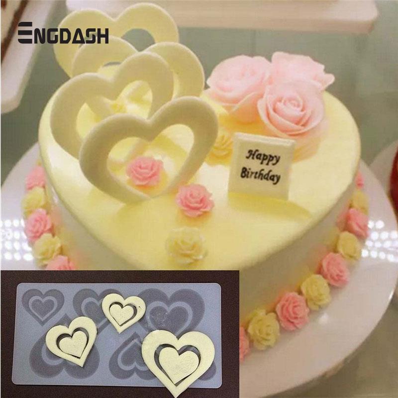 Engdash 1 Stuck Herz Silikon Form Kuchen Dekorieren Werkzeug Cupcake