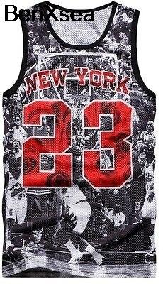 New 3D Tank Top Number 23 Size S M L Michael Jordan Legend Men Women