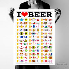 I Love Beer Chart Canvas Art Print Painting Poster Wall Pictures For Living Room Home Decoration Bedroom Decor No Frame