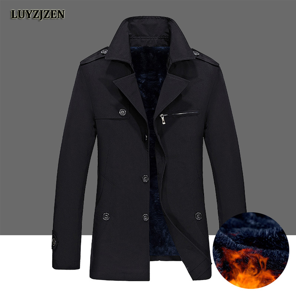 Winter Jacket Men 2018 New Fashion Thickening Men's Warm Outwear Male Jacket and Coats Solid Clothing Big Size High Quality K64
