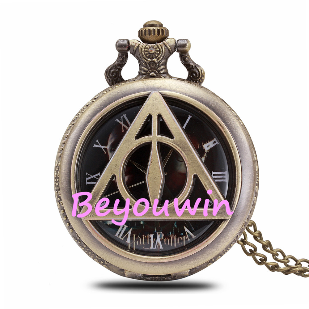 Watches Adroit 100pcs/lot Exclusive Skullcandy Retro Pocket Watch Bronze Color Skull Heads Quartz Watch White Dial High Quality Clock