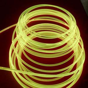 Image 5 - Boczna poświata włókno z tworzywa sztucznego optyczne 100 m/rolka 3.0mm LED lights kabel do samochodu oświetlenie dekoracyjne światłowody drut