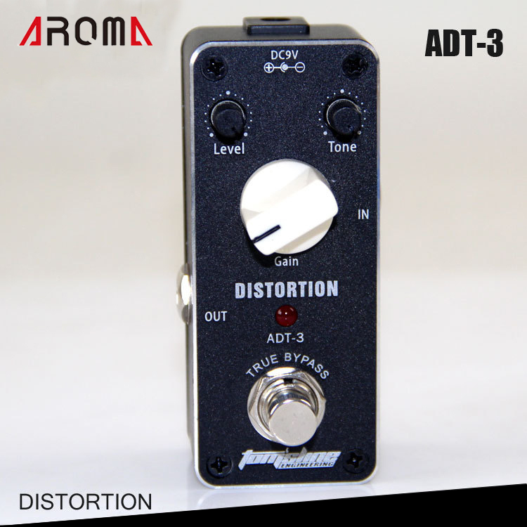 Aroma ADT-3 True Bypass Distortion Pedal for Electric Guitar aroma adr 3 dumbler amp simulator guitar effect pedal mini single pedals with true bypass aluminium alloy guitar accessories