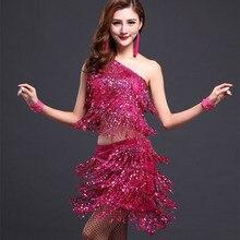 675bbe4e Lentejuelas vestido de baile latino para mujer latina Falda de baile samba  trajes de baile mujer