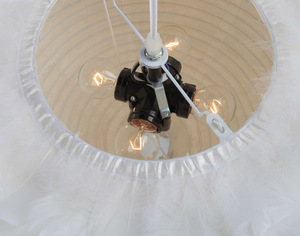 Image 4 - נורדי לבן נוצת תליון אורות creative אישיות נורדי חדר שינה מסעדה חדר ילדים פלומת ציפורים קן תליון מנורה