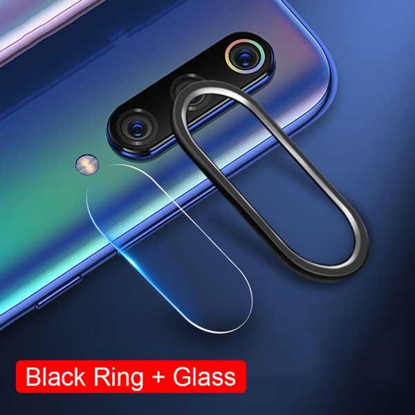 Tempered Glass Film For Redmi Note 7 Pro + Camera Lens Ring For Xiaomi Mi 9 Mi9 SE Case Camera Cover Ring Protective Full Film