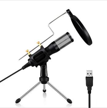 USB Condenser Recording Microphone w/ Tripod Stand For Laptop MAC Computer PC Windows Studio Podcasting YouTube Recording