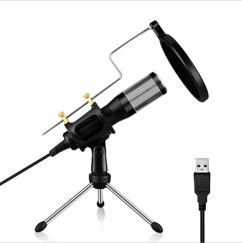 US $27 99  USB Condenser Recording Microphone w/ Tripod Stand For Laptop  MAC Computer PC Windows Studio Podcasting YouTube Recording-in Microphones