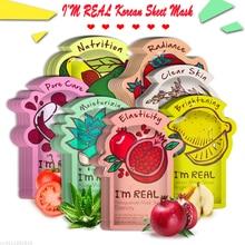 I'm REAL Skin Care Food Sheet Face Mask Moisturizing Oil Control Whitening Shrink Pores Korean Facial Mask tony moly Cosmetics