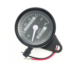 цена на Motorcycle refitted small instrument motorcycle double odometer kilometer speedometer and speedometer