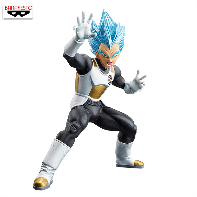 "Japan Anime ""Dragon Ball SUPER"" Original Banpresto Chouzetsu Gikou Vol.2 Collection Figure - Vegeta Super Saiyan God SS"