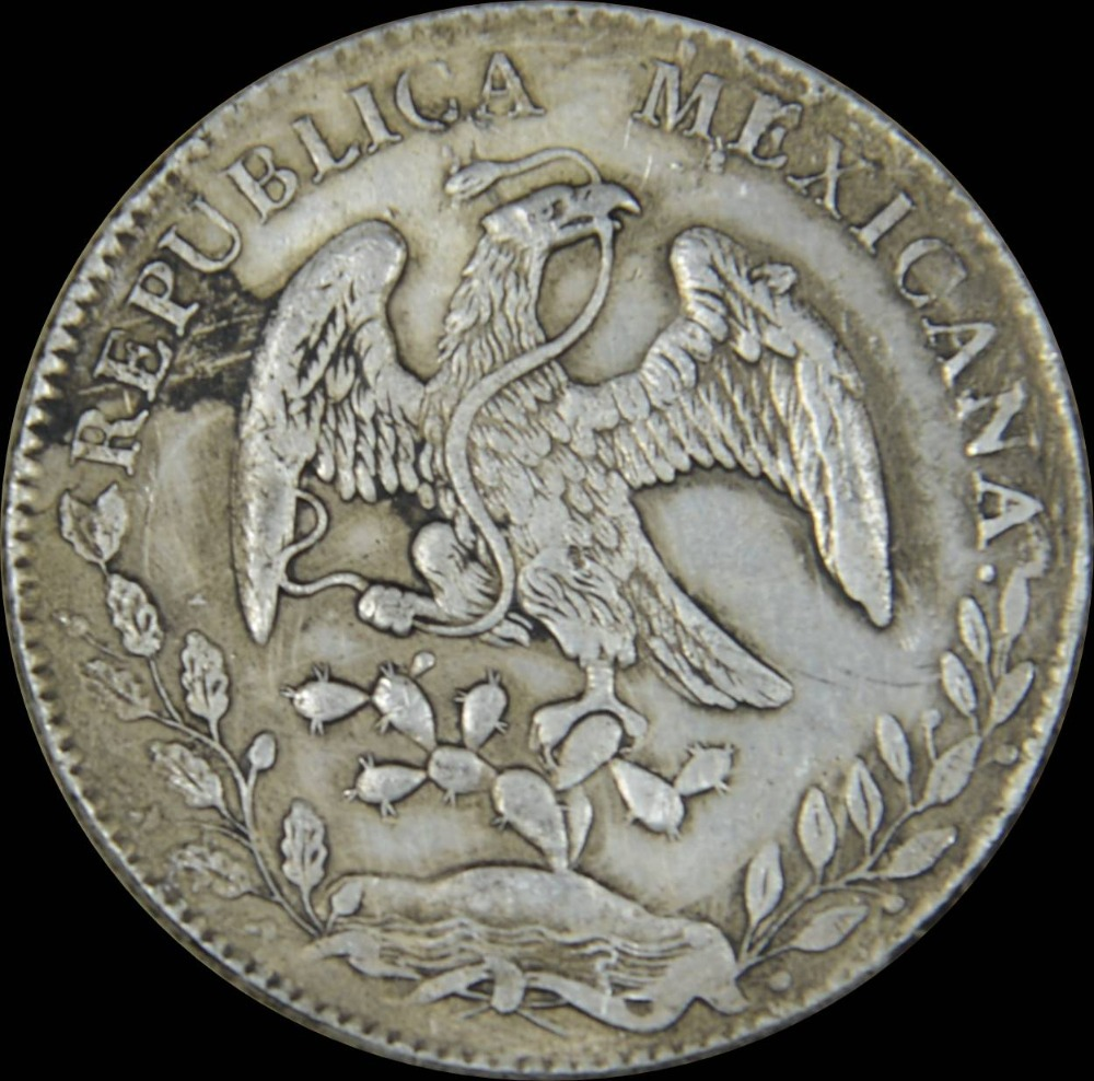 Mr J Republica Mexicana Libertad 8r M 1882 M H 10d 20g 90