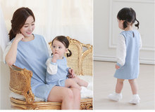 Mother Daughter Son Outfits Couples Lovers Matching Shirt Clothes Mum and Daughter Clothes Dress Mama Kids Baby Vestidos Cotton
