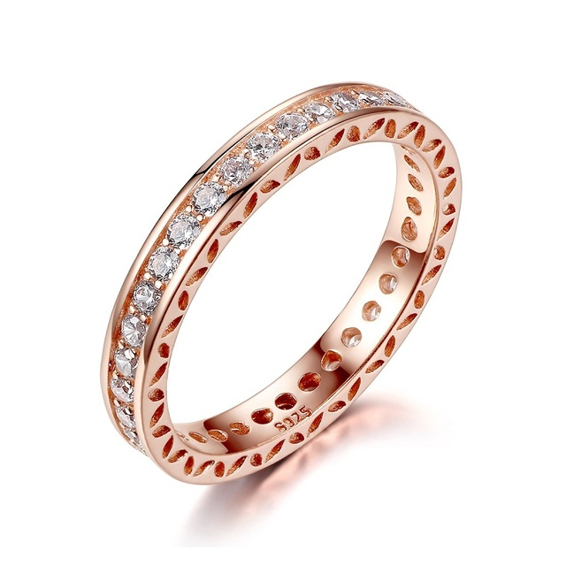 WOSTU 5 styles Hot Sale Silver & Golden Black Stone Crown Simple Rings  Compatible With Original WST Ring Jewelry ZBB7215