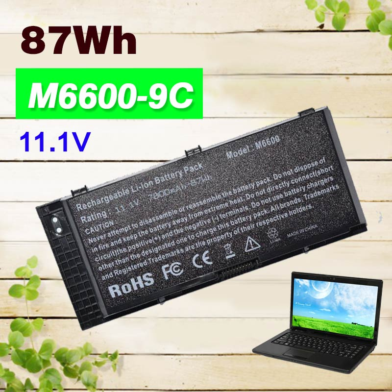 87Wh Laptop battery for Dell FV993 FJJ4W N71FM T3NT1 PG6RC R7PND OTN1K5 for Precision M4600 M4700 M4800 M6600 M6700 M6800 original laptop battery for dell precision m4600 m4700 m4800 t3nt1 n71fm fjj4w 65wh