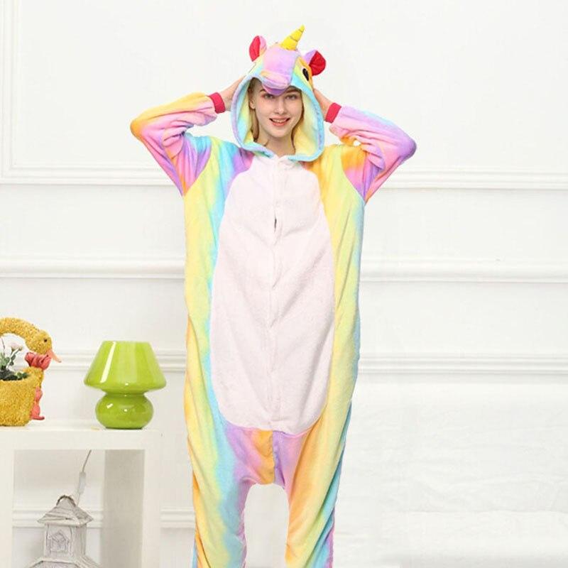 Kid Adult Women Kigurumi Unicorn Costume Fancy Animal Anime Cosplay Onepiece Child Boy Girl Baby Jumpsuit Halloween Onesie