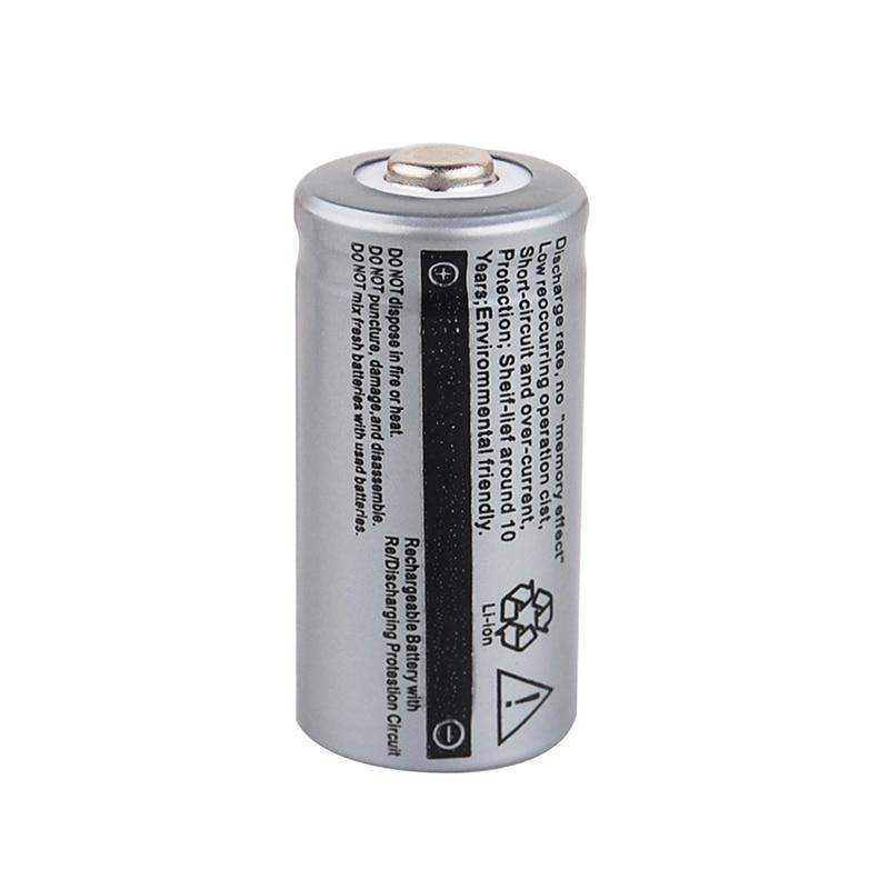 16340 3 7V 2500mah Battery CR123A Lithium Li ion Rechargeable Batteries 3 7V CR123A Batteria for Laser Pen LED Flashlight Cell in Rechargeable Batteries from Consumer Electronics