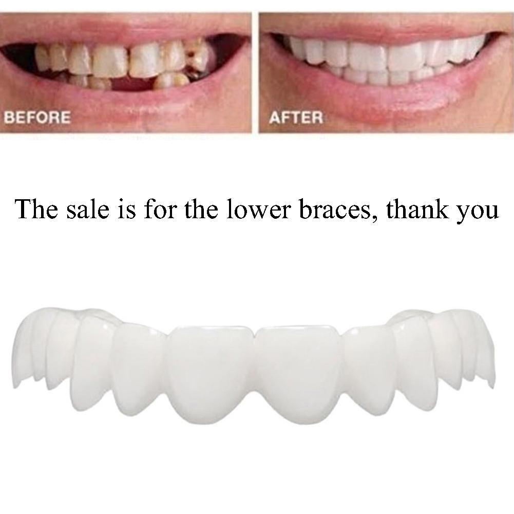 Whitening Perfect Smile Veneer Down Teeth Fake Tooth Cover On Smile Instant Teeth Cosmetic Denture Care for Upper One Size Fits 2
