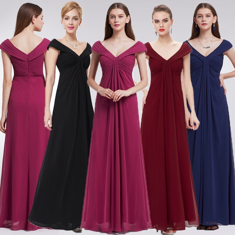 [Clearance Sale] Elegant   Evening     Dresses   Ever Pretty EP08457 V-Neck Sleeveless A-Line Long Chiffon Formal   Evening   Party   Dresses