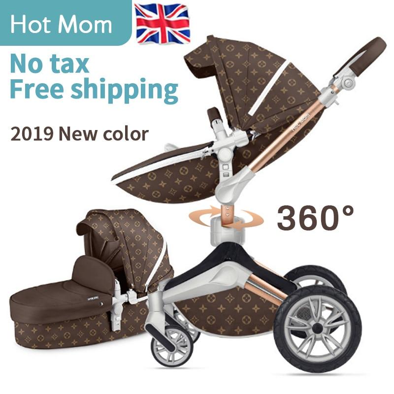 Hot maman 2 en 1 bébé poussette 360 degrés rotation bébé chariot luxe haut paysage bébé landau EU Standard pas de taxe livraison gratuite