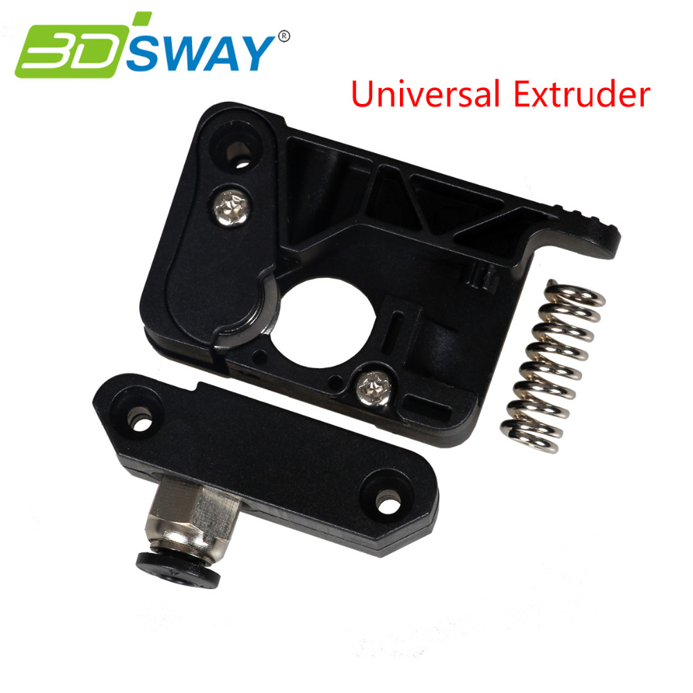 3DSWAY 3D Printer Parts PC Plastic Upgraded Universal Extruder Kit Right Side/Left Side for Makerbot Extruder 1.75mm Filament