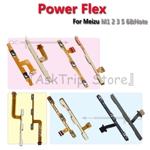 100% New For Meizu M1 M2 M3 M3s M5 M5s M6 Volume Switch On Off Button Key Power Flex Cable Note Meta