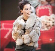 Free shipping Genuine real natural Fox Fur Coat women's fashional Jacket winter warm luxury fox fur waistcoats custom plus size