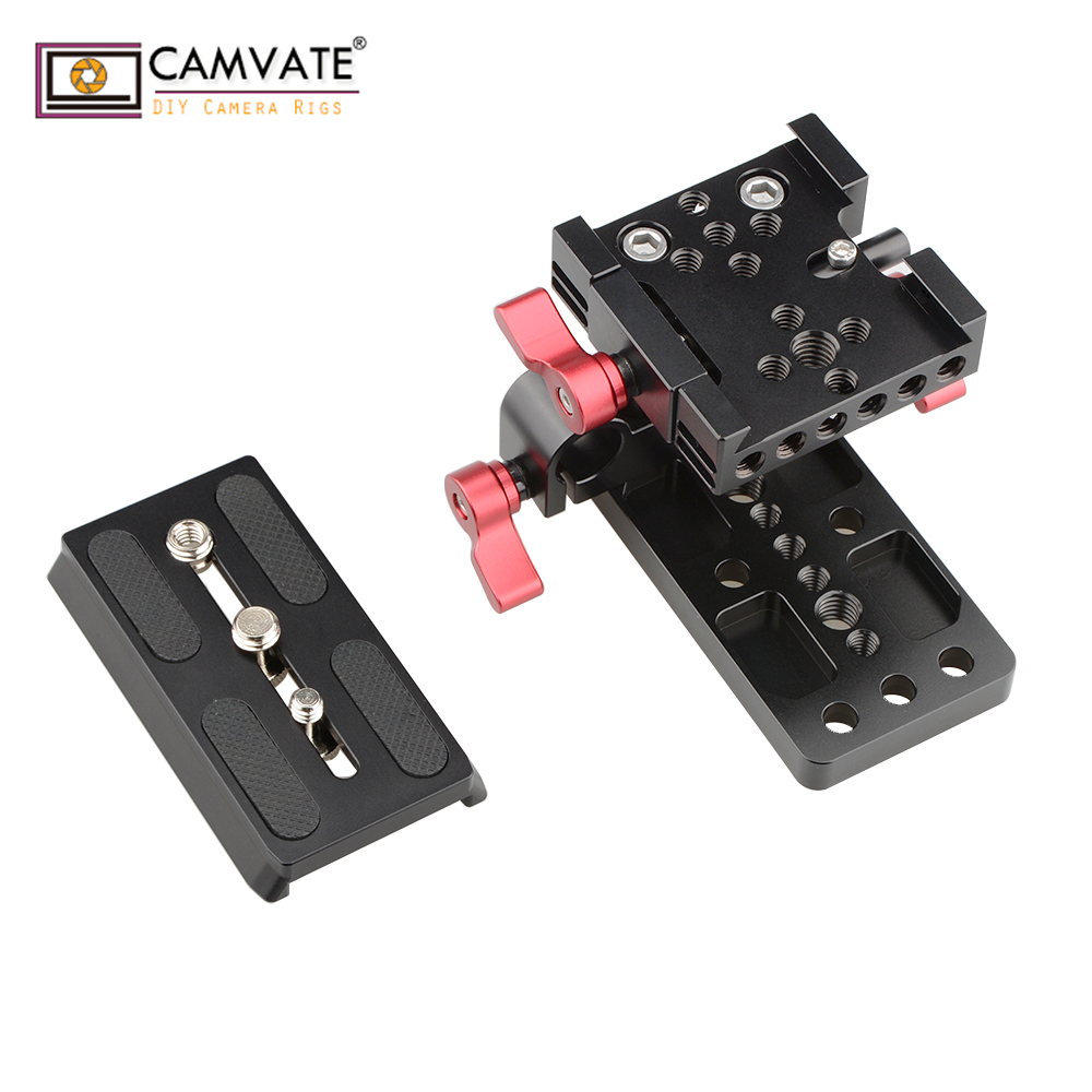 mount accessory CAMVATE Quick Release Mount Base QR Plate for Manfrotto Standard Accessory C1436 camera photography accessories (3)