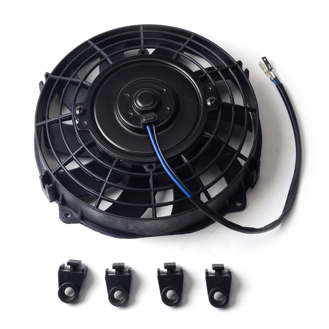7 inch Black 12V 80W Electric Universal Auto Cooling Radiator Fan Hot Rad Mounting Kit