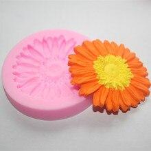 Большой цветок хризантемы Силиконовые формы для торта Фондант Мыло в форме шоколада для кухни выпечки fm 090