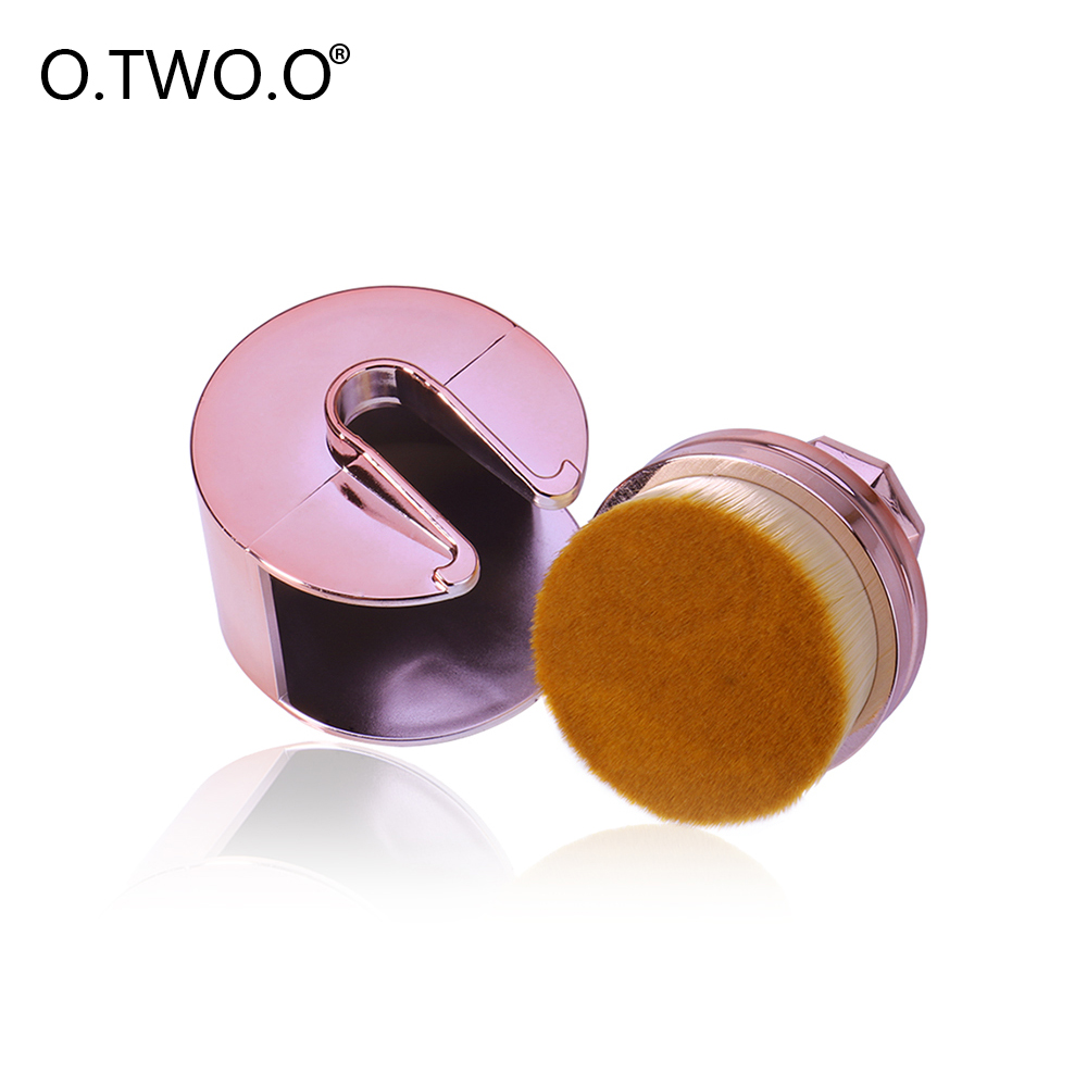 O.TWO.O Makeup Brush Foundation Cream Powder Micro Fine Beauty Oval Circle Makeup Brushes 35 Angle Brushes For Liquid Cosmetic dmyco 10pcs set powder makeup brush beauty oval cream puff cosmetic toothbrush shaped foundation brush