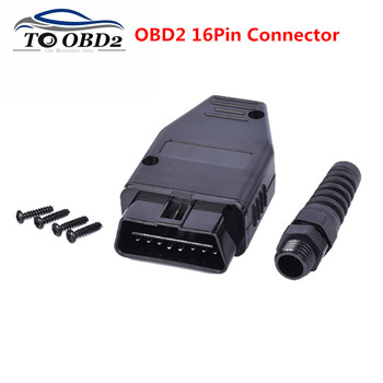 Free Ship 2018 Newst OBD Male Plug OBD2 16Pin Connector OBDII Adaptor OBDII Connector J1962 OBD2 Connector image