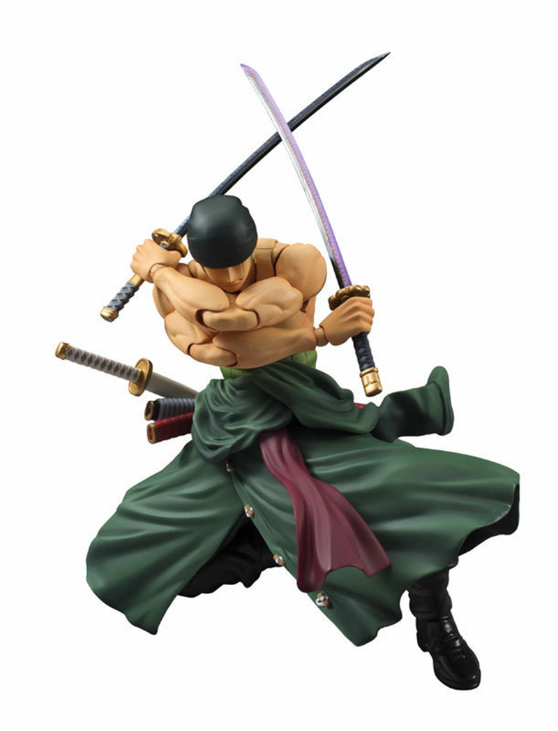 WVW 23CM Anime One Piece New World Joints moveable Roronoa Zoro Model PVC Toy Action Figure Decoration For Collection Gift one piece action figure roronoa zoro led light figuarts zero model toy 200mm pvc toy one piece anime zoro figurine diorama