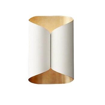 금속 럭셔리 현대 벽 램프 골드 블랙 화이트 블랙 컬러 벽 빛 포스트 모던 led 조명 홈 decoraction 및 비즈니스 사용