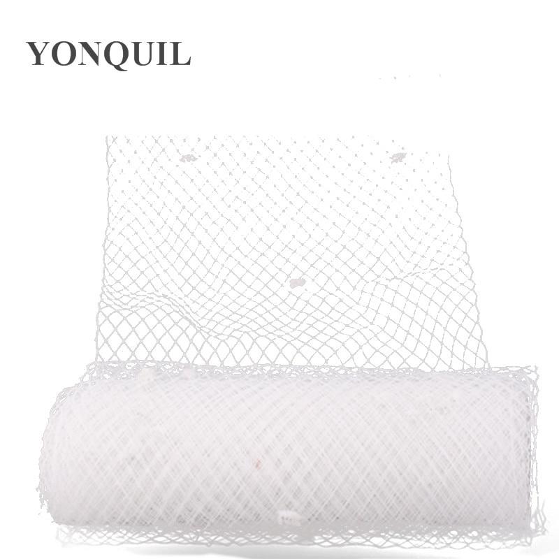 25CM White Or Multiple Color Dot Birdcage Veil Bridal Netting Hair Accessory Millinery Veilling DIY Fascinator Base Headpiece